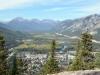 Aussicht vom Tunnel Mountain auf Banff