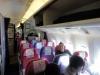 pink und violette Sitze