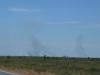 Buschfeuer in der Ferne