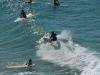 Die Surfers von Byron Bay Beach
