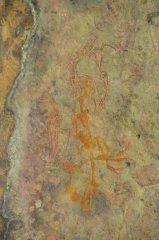 Aboriginal Rock Art an der Decke