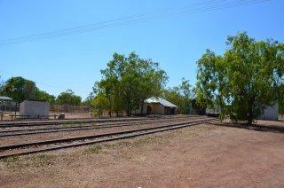 Der stillgelegte Bahnhof in Pine Creek