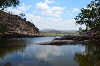 Der natürliche Infiniti Pool bei Gunlom