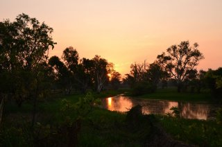 Sunset bei Yellow Waters