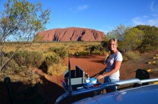 Abendessen beim Uluru