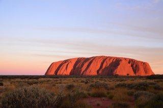 Uluru bei Sonnenuntergang
