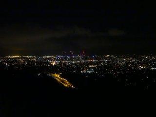 Aussicht von Mount Coot-Tha by night