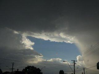 Gewitter zieht sich zusammen
