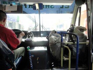 Unsere Rucksäcke im Bus nach Granada