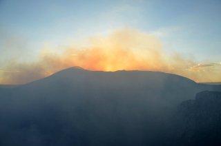 Das Gas über den Vulkan