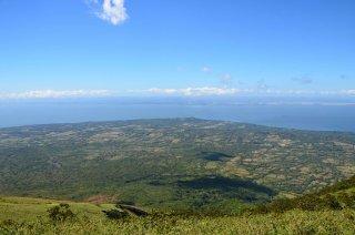 Aussicht auf 1000 Meter auf dem Vulkan