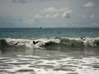 Wellenschwimmen....