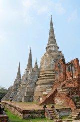 die drei Chedi von Wat Phra Si Sanphet