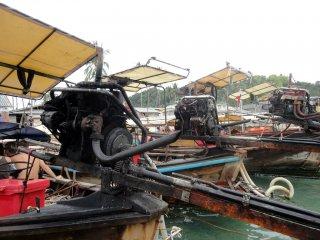 Die Motoren der Long Tail Booten