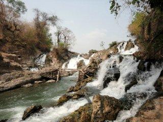 ein weiterer kleiner Mekong Wasserfall