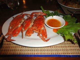 Krabben zum Abendessen