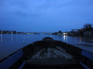 Morgendämmerung am Mekong Delta