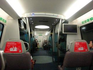 der moderne Express Hong Kong Zug