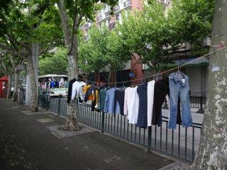 so werden die Kleider auch trocken