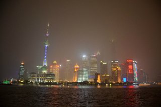 Skyline Shanghai by night