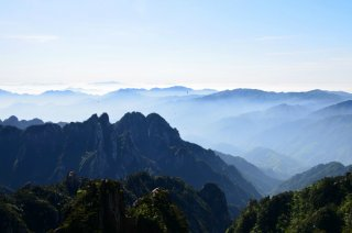 auf dem Berg Huang Shan