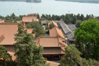 Ausssicht von oben im Summer Palace