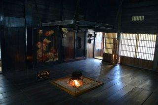 Ein Shirakawago Haus von innen