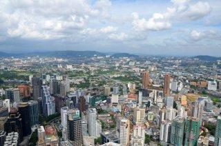 Aussicht auf 400 Meter über der Stadt