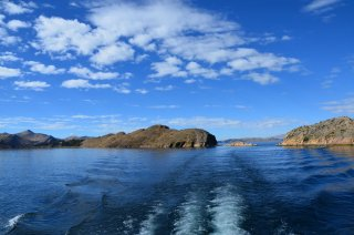 Auf dem Weg nach Isla del Sol