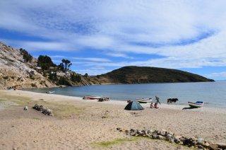 Der Strand im Norden von Isla del Sol