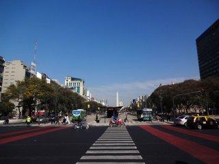 Plaza de Rebuplica mit Aussicht auf den Obelisk