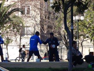 Boxtraining im Park