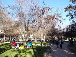 Der Park nebem Hostel