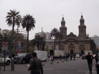 Plaza des Armes in Santiago