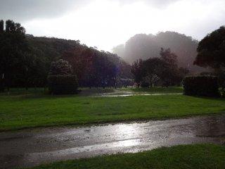 Erste Nacht auf dem Campingplatz...regen