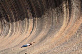 Surfen im Wave Rock