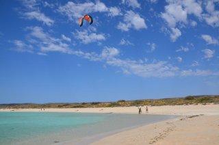 Kitesufer beim Sandy Bay