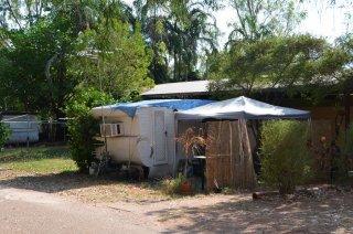 Messies auf dem Campingplatz