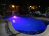 Unser Hostel in Cairns - Pool by night