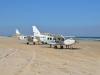 Flugzeuge am Strand