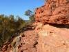 Wanderung entlang der Felse