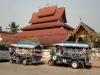 die Tuktuks sehen in Laos anderst aus als in Thailand