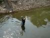 Ein Mann der fischt