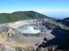 der aktive Krater Vulkan Poas