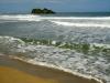 Das Meer und ein grosser Fels