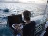 Grillieren auf dem Schiff