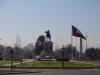 Plaza Italy mit den Anden im Hintergrund