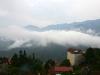 Aussicht von Sapa auf den Bergen