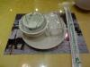 Der Tisch ist gedeckt im Restaurant