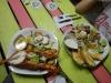 Verdientes Abendessen in Caye Caulker